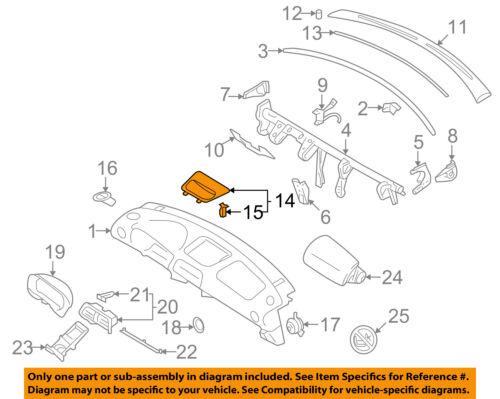 OEM 2008-2014 Subaru Impreza WRX STi Dash Instrument Trim Panel NEW 66065SC020