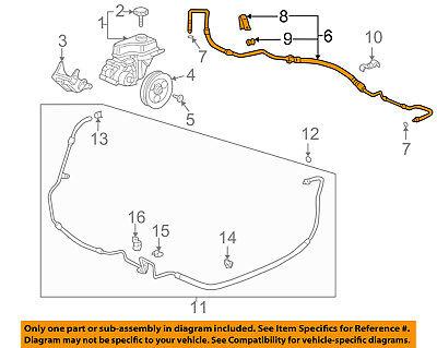 GM OEM-Power Steering Pressure Hose 25768879