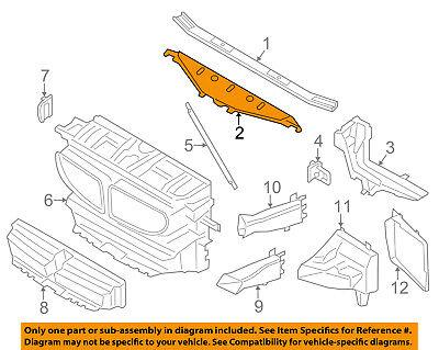 BMW OEM Radiator Core Support-Sight Shield Splash Cover Panel 51647267356
