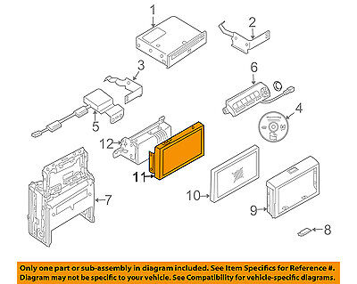 Infiniti NISSAN OEM 2003 G35 GPS Navigation System-Housing Cover 28091AL500