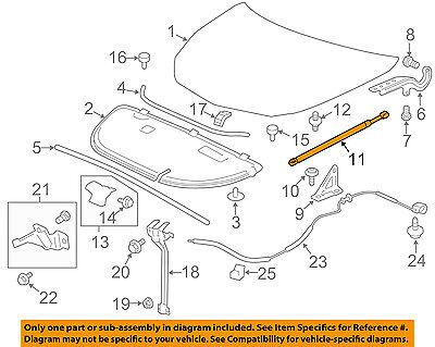 GM OEM Hood-Lift Support Strut Shock Prop Arm 22760388