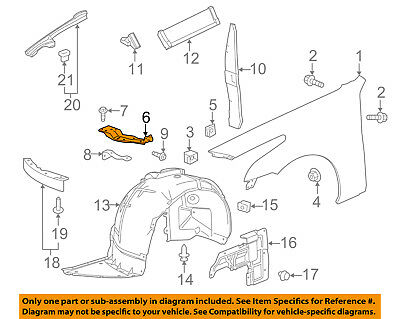Cadillac GM OEM 14-18 CTS Fender-Front Bracket Right 22788411