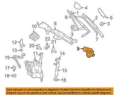 GENUINE MERCEDES-BENZ Windshield Glass Washer Wiper-Front Motor 164 820 24 42