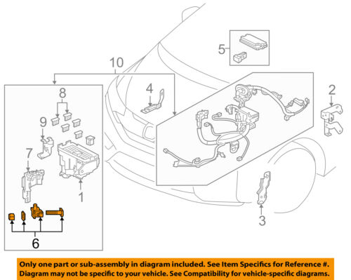 HONDA OEM 15-17 Fit Electrical-Positive Term 32416T5RA01