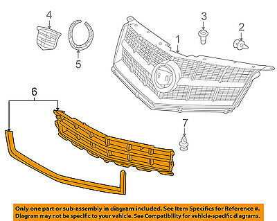 Cadillac GM OEM 10-12 SRX Front Bumper-Lower Bottom Grille Grill 25778326