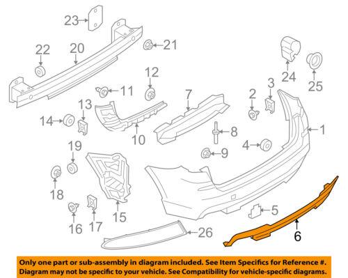 BMW OEM 11-17 X3 Rear Bumper-Bumper Filler 51128048132