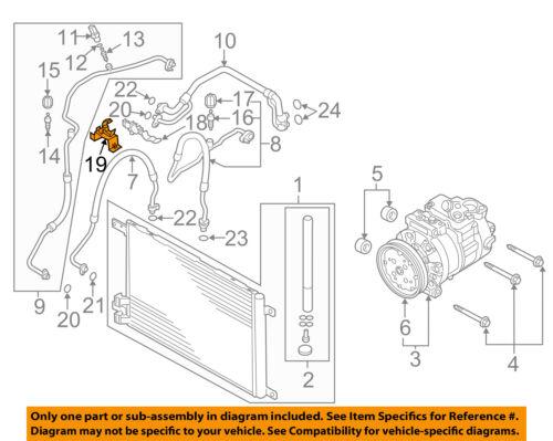 Audi Oem 15 C Ac Condenser  Compressor  Line