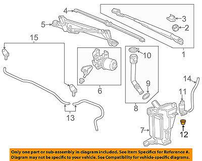 GM OEM Wiper Washer-Windshield-Washer Pump Seal 13250358