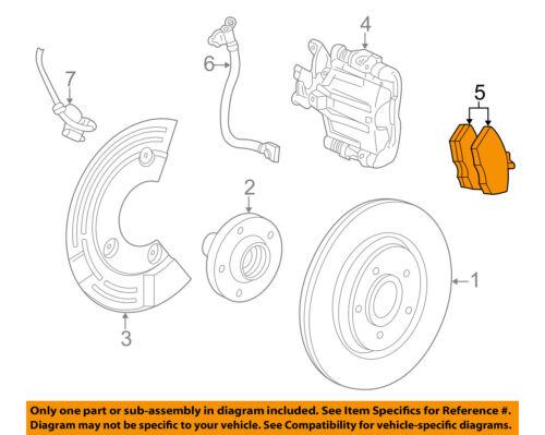 FORD OEM Brake-Rear Pads DG9Z2200F