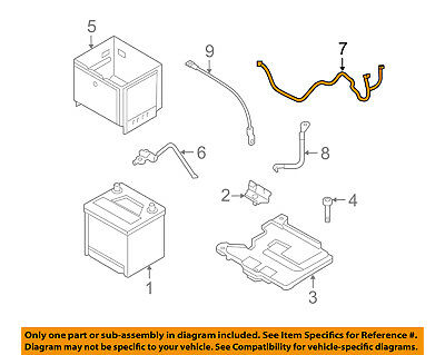 HYUNDAI OEM 2015 Accent Battery-Positive Cable 918501R212