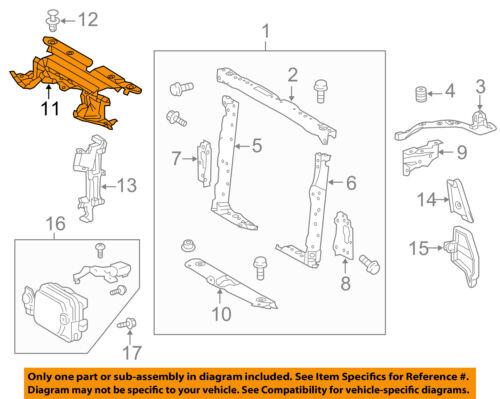 FORD OEM F-150 Radiator Core Support-Sight Shield Splash Cover Panel FL3Z19E525A