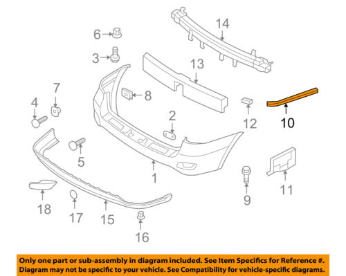 REAR Left Bumper Cover Support Bracket OEM For 10-12 Santa Fe Driver Side Rear