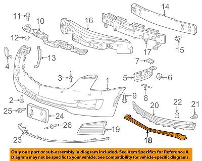 Cadillac GM OEM 15-18 ATS Front Bumper-Lower Support 22879651