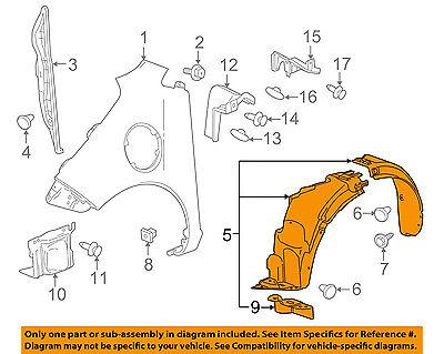 Chevrolet GM OEM 14-16 Spark EV-Fender Liner Right 95292441