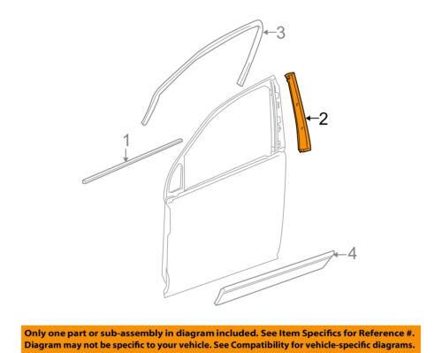 GM OEM Front Door-Applique Window Trim Right 84263145