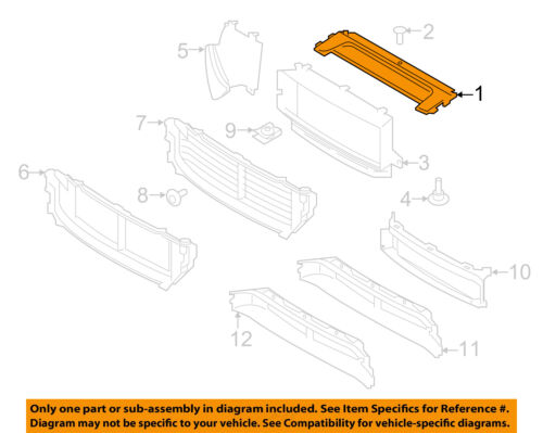 FORD OEM 12-16 Focus Radiator Core Support-Upper Deflector CP9Z9F721A