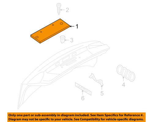 AUDI OEM 2013 A4 Quattro Trunk Lid-License Panel 8K582711301C