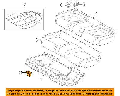 AUDI OEM 07-15 Q7 Rear Seat-Cushion Frame Grommet 4L0886373