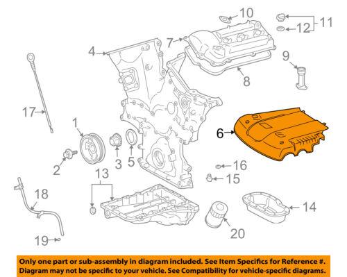 [SCHEMATICS_4JK]  TOYOTA OEM 03-09 4Runner 4.0L-V6-Engine Cover 1125931011 | eBay | 2004 Toyota 4runner Engine Diagram |  | eBay