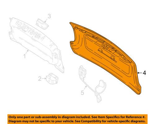FORD OEM Tail Gate Tailgate Hatch-Insert E7TZ99430B22A