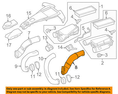 - Air Cleaner Intake-Inlet Duct Tube Hose Left 2780905182