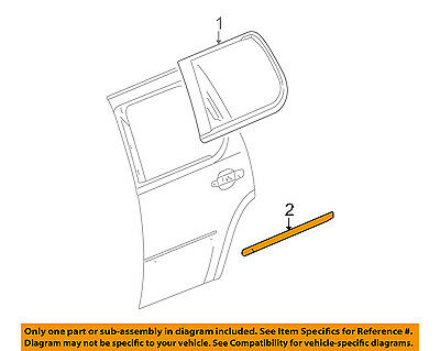 Cadillac GM OEM 07-14 Escalade REAR DOOR-Body Side Molding Right 15876402