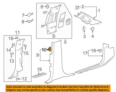 GM OEM Interior-Lower Center Pillar Trim Retainer 11547026