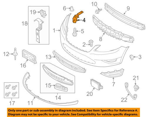 ford oem 10 15 taurus front bumper side support bracket left rh ebay com