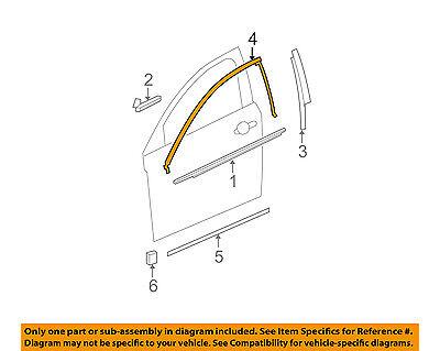 GM OEM Front Door-Upper Molding Trim Right 25974542