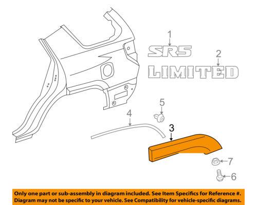 TOYOTA OEM 4Runner Ext-Wheel Well Fender Flare Arch Molding Right 7565335901