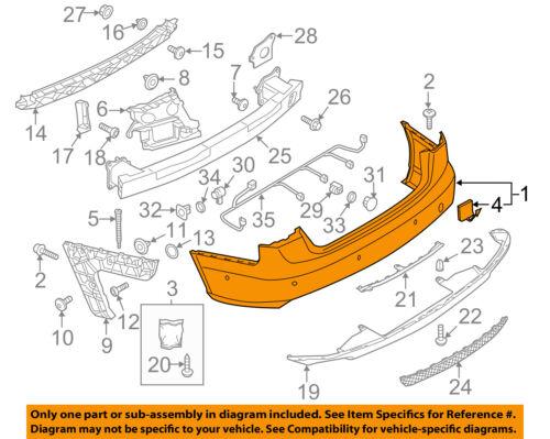 AUDI OEM 12-15 A6 Quattro Rear Bumper-Cover 4G5807067CGRU
