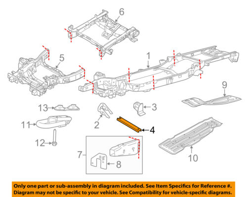 f 150 frame diagram ford oem 15 18 f 150 frame crossmember fl3z5l005a ebay  ford oem 15 18 f 150 frame crossmember