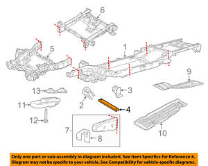 F150 Crossmember Car Truck Parts Ebay. Ford Oem 1518 F150 Framecrossmember Fl3z5l005a. Ford. 97 Ford F150 Rear Suspension Diagram At Scoala.co