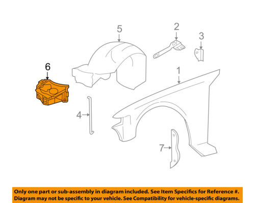 details about lincoln ford oem 98 11 town car fender shield f8vz16049aa tele wiring diagrams car fender diagram #7