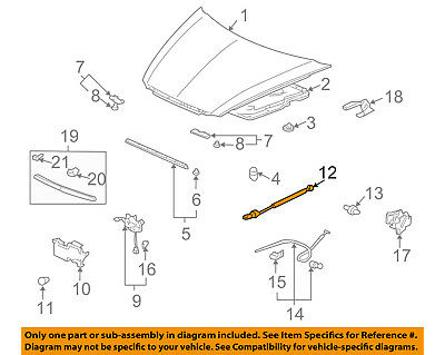 Acura HONDA OEM 06-08 TL Hood-Lift Support Strut Shock Prop Arm 74149SEPH01