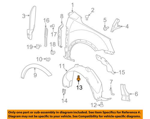 GM OEM-Fender Liner Splash Shield Push Clip Retainer Blind Rivet 11609417