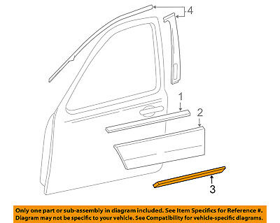 FORD OEM 05-07 Freestyle Front Door-Lower Molding Trim Right 6F9Z7420878DAPTM