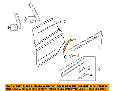 AUDI OEM 07-15 Q7 Exterior-Rear-Protect Strip Left 4L0839981A