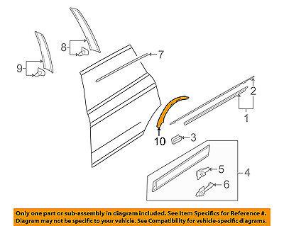 AUDI OEM 07-15 Q7 Exterior-Rear-Protect Strip Right 4L0839982A