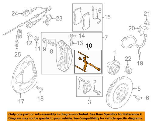 AUDI OEM 14-17 A7 Quattro Brake-Front-Caliper Pin 4F0698269B | eBay | Audi Brakes Diagram |  | eBay