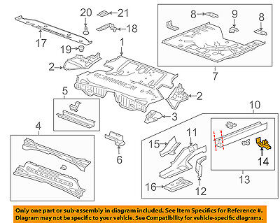 GM OEM Floor-REAR BODY-Rail Reinforcement Plate 12778775