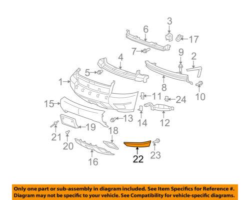 GM OEM Front Bumper-Bumper Bracket Left 12335637