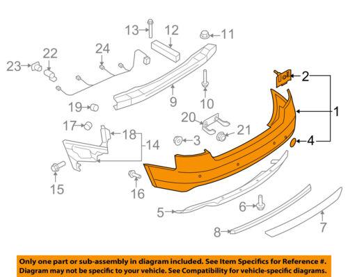 AUDI OEM 08-12 S5 Rear Bumper-Cover 8T0807303BGRU