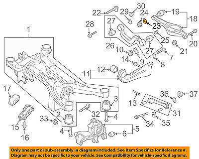 VW VOLKSWAGEN OEM 05-18 Jetta Rear Suspension-Upper Control Arm Washer WHT000232