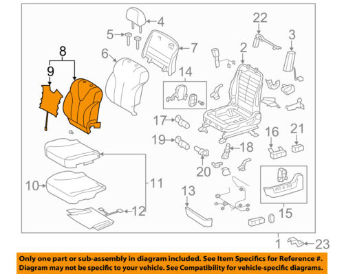 toyota 1 8 diagram 71074 33g61 e1 toyota cover  front seat back  lh for separate type  71074 33g61 e1 toyota cover  front seat