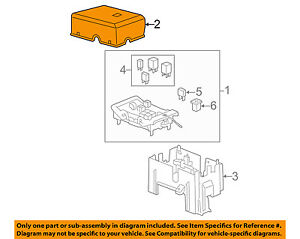 fuse box cover car truck parts gm oem fuse relay box upper cover 25815385