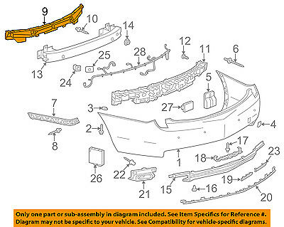 Cadillac GM OEM 13-17 XTS Rear Bumper-Center Support 22975423
