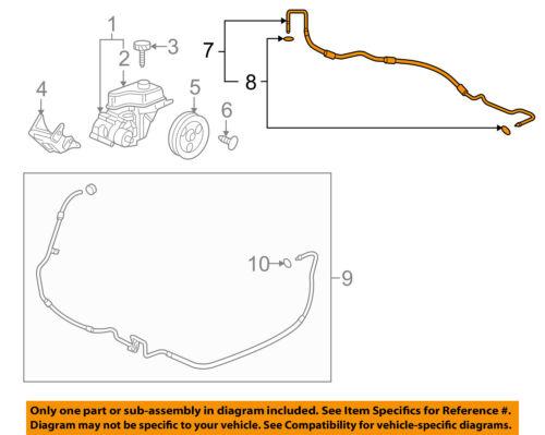 For Toyota FJ Cruiser Power Steering Pressure Line Hose Assembly 37948DR