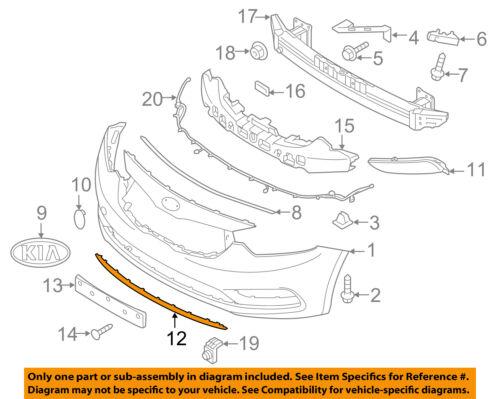 Front Bumper Deflector Forte Koup SX 2014-2015-2016 OEM Kia Front Lower Lip