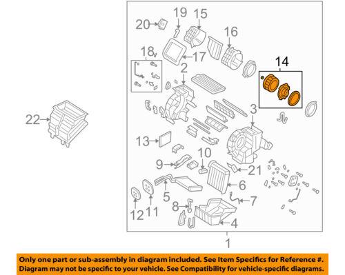 MAZDA OEM 04-09 3-Blower Motor BP4K61B10